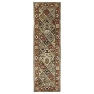Hand-tufted Royal Taj Multicolored Wool Runner Rug (2'3 x 7'9)