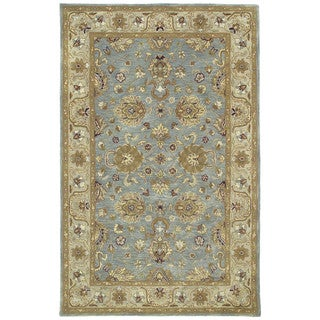 Hand-tufted Royal Taj Aqua Wool Area Rug (9'6 x 13')