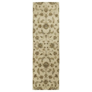 Royal Taj Sand Hand-tufted Wool Rug (2'3 x 7'9)