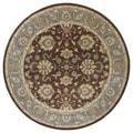 Hand-tufted Royal Taj Brown Wool Area Rug (7'9 Round)