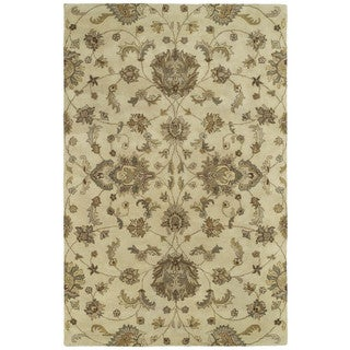 Hand-tufted Royal Taj Sand Wool Area Rug (9'6 x 13')