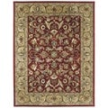 Hand-tufted Royal Taj Red Wool Area Rug (8' x 10')