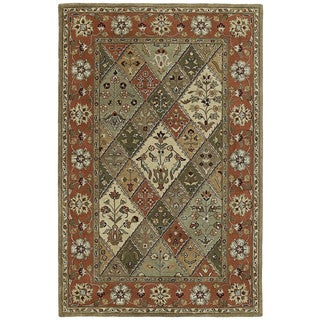 Hand-tufted Royal Taj Multicolored Wool Area Rug (9'6 x 13')