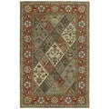 Hand-tufted Royal Taj Multicolored Wool Area Rug (9'6 x 13')