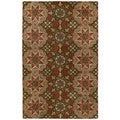 Hand-tufted Royal Taj Raspberry Wool Area Rug (8' x 10')