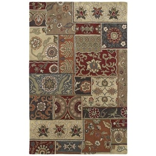 Hand-tufted Royal Taj Multicolored Wool Rug (8' x 10')