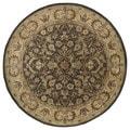 Hand-tufted Royal Taj Chocolate Brown Wool Rug (9'9 Round)