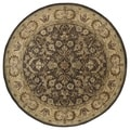 Hand-tufted Royal Taj Chocolate Brown Wool Rug (7'9 Round)