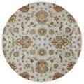 Hand-tufted Royal Taj Light Blue Wool Rug (5'9 Round)