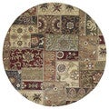 Hand-tufted Royal Taj Multicolored Wool Rug (5'9 Round)