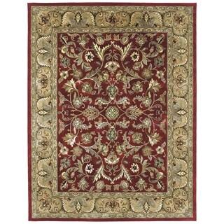 Hand-tufted Royal Taj Red Wool Rug (5' x 7'9)