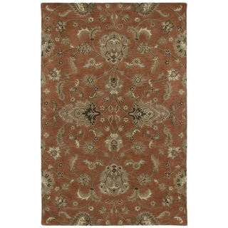 Hand-tufted Royal Taj Copper Wool Rug (5' x 7'9)