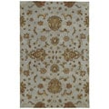 Hand-tufted Royal Taj Light Blue Wool Rug (5' x 7'9)