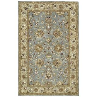 Hand-tufted Royal Taj Aqua Wool Rug (5' x 7'9)