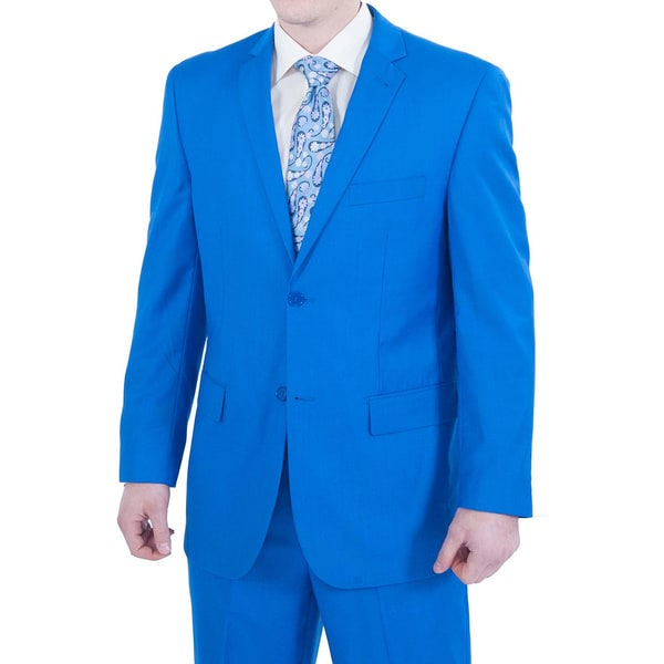 Ferrecci Men's Royal Blue 2-button Suit