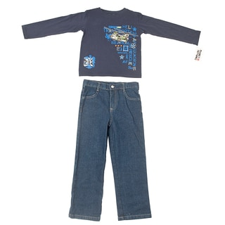 Peanut Buttons Boy's Helicopter Theme Pant and Shirt Set