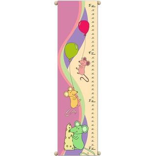 Mice and Cheese Pink Growth Chart