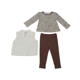 Peanut Buttons Girl's Cheetah Print Clothing Set