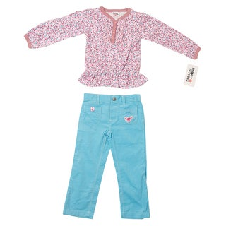 Peanut Buttons Girl's Bird Embroidered Clothing Set