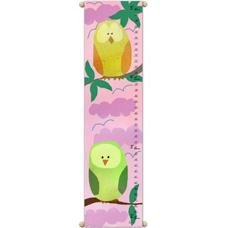 Owls on Pink Sky Growth Chart