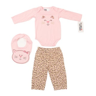 Girl's Leopard Printed Bib Set