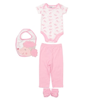 Peanut Buttons Girl's Poodle Clothing and Bib Set