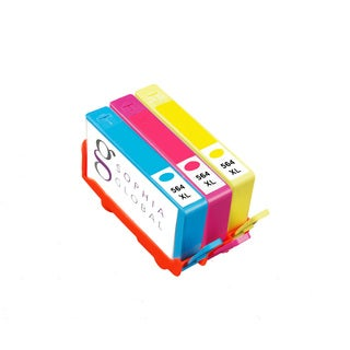 Sophia Global Compatible Ink Cartridge Replacement for HP 564XL (1 Cyan, 1 Magenta, 1 Yellow)
