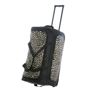 Olympia 26-inch Fashion Printed Leopard Rolling Upright Duffel Bag