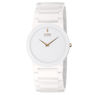 Citizen Unisex Eco-Drive White Ceramic Stiletto Blade Watch