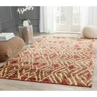 Safavieh Hand-knotted Bohemian Brown/ Gold Jute Rug (5' x 8')
