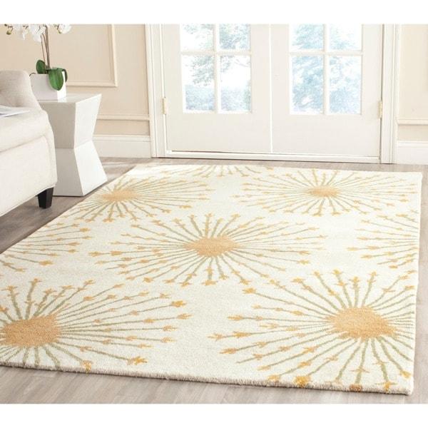 Safavieh Handmade Bella Beige/ Gold Wool Rug (5' X 8