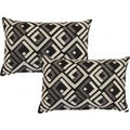 Sienna Black 12.5-in Throw Pillows (Set of 2)