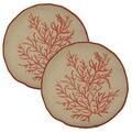 Coral Nautilus 12-in Round Throw Pillows (Set of 2)