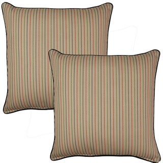 Marina Stripe 17-in Throw Pillows (Set of 2)