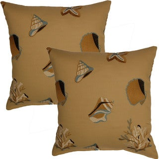 Shelly Beach 17-in Throw Pillows (Set of 2)
