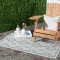 Safavieh Indoor/ Outdoor Courtyard Light Grey/ Anthracite Rug (2'7 x 5')