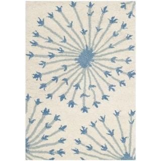 Safavieh Handmade Bella Beige/ Blue Wool Rug (3' x 5')