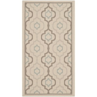 Safavieh Indoor/ Outdoor Courtyard Beige/ Dark Beige Rug (2' x 3'7)