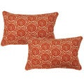 Seabreeze Orange12.5-in Throw Pillows (Set of 2)