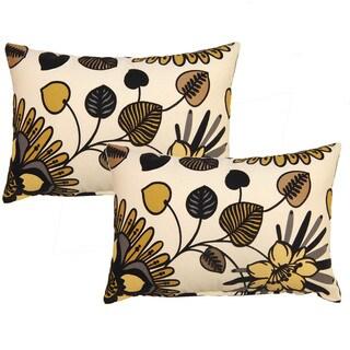 Belcanto Ebony 12.5-in Throw Pillows (Set of 2)