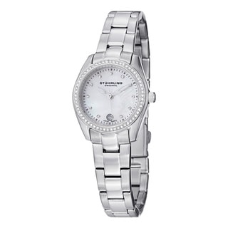 Stuhrling Original Women's Salida Del Sol Swiss Quartz Swarovski Crystal Stainless Steel Bracelet Watch