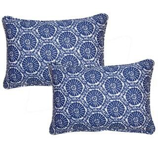 Seabreeze Indigo 12.5-in Throw Pillows (Set of 2)
