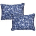 Seabreeze Indigo 12.5-in Throw Pillows (Set of 2)