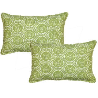 Seabreeze Green 12.5-in Throw Pillows (Set of 2)