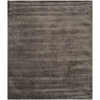 Safavieh Hand-loomed Mirage Charcoal Viscose Rug (8' x 10')