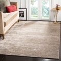 Safavieh Hand-loomed Mirage Grey Viscose Rug (8' x 10')