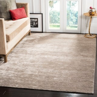 Safavieh Hand-loomed Mirage Grey Viscose Rug (9' x 12')