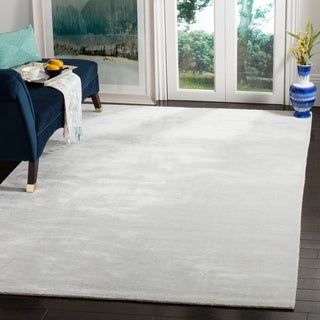 Safavieh Hand-loomed Mirage Silver/ Grey Viscose Rug (6' x 9')