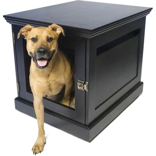 DenHaus TownHaus Espresso Wood Pet Furniture Crate