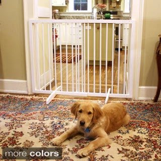 Extra Tall Solid Wood Freestanding Pet Gate
